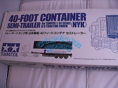 Price - $355.81. Tamiya 56330 1/14 40Ft Container Semi-Trailer (NYK) (RC Tractor Truck) CAP56 Bs ( MPN - Does not apply, Brand - Unbranded/Generic, For Vehicle Type - Truck, Fuel Source - Electric, For Vehicle Brand - Tamiya, UPC - Does not apply    )