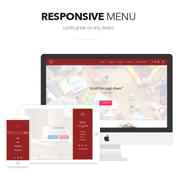 Owl Menu: Responsive WordPress Menu Plugin by AnimalCoding | CodeCanyon http://bit.ly/2nZCKp9