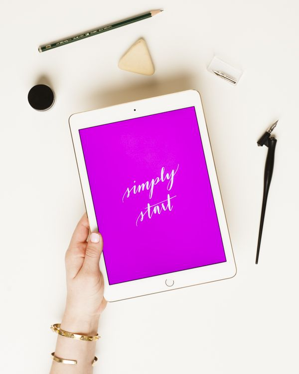 this month's free inspirational download by @coloregrace is the perfect reminder to simply start —download your own from www.jojotastic.com