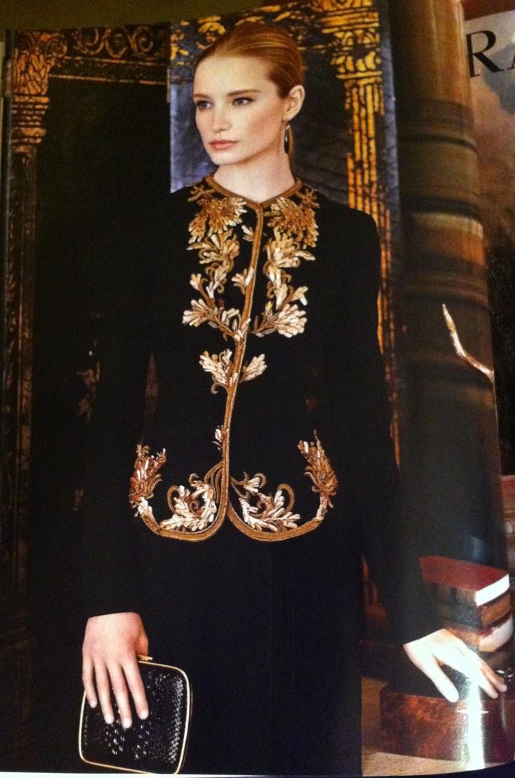Ralph Lauren Collection advertisement on Vogue USA Sept.'12.  Love the jacket...
