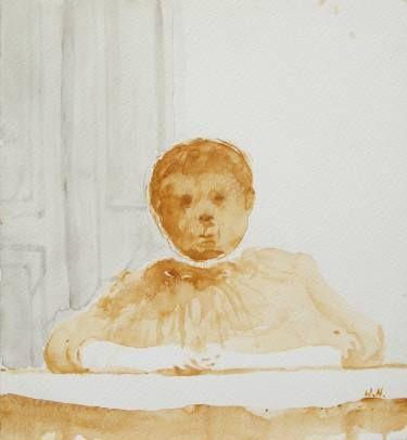 "Saatchi Art Artist Wojtek Herman; Painting, ""Boy"" #art"