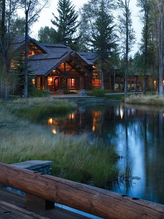 not just a perfect cabin but a wicked view as well