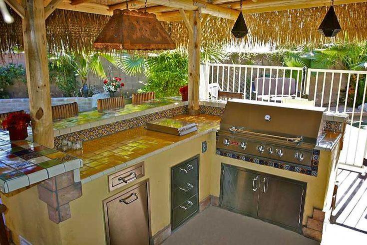 outdoor kitchen with lanai  outdoor kitchen design