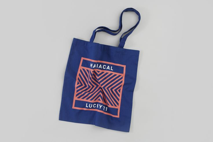 Tote bag designed by Blok for Dallas and LA film production company Lucky 21.