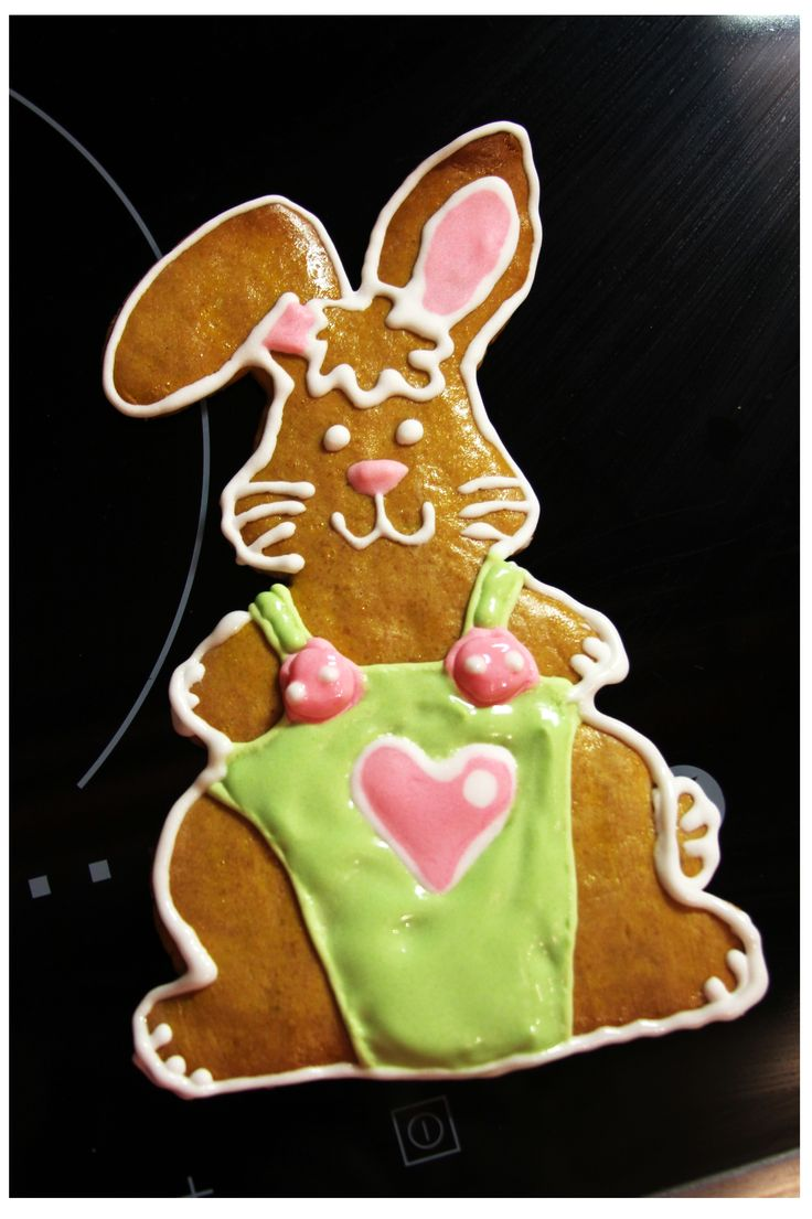 My Easter bunny, gingerbread, DIY - just draw it on a paper and trace it on a dough.