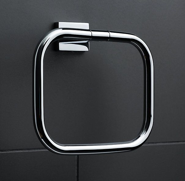 Modern Towel Ring Polished Chrome