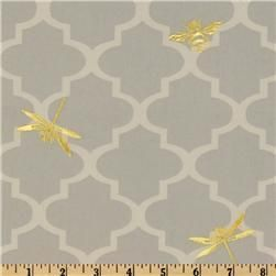 Bathroom?!  Suzie: Fabrics - Waverly Buzzing About Silver Lining - Discount Designer Fabric - Fabric.com - fabric