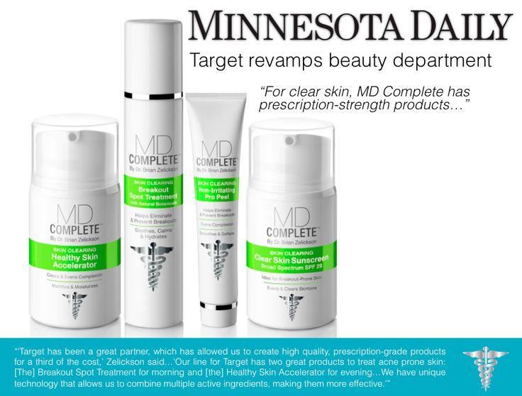 MD Complete's Skin Clearing line was featured in Minnesota Daily