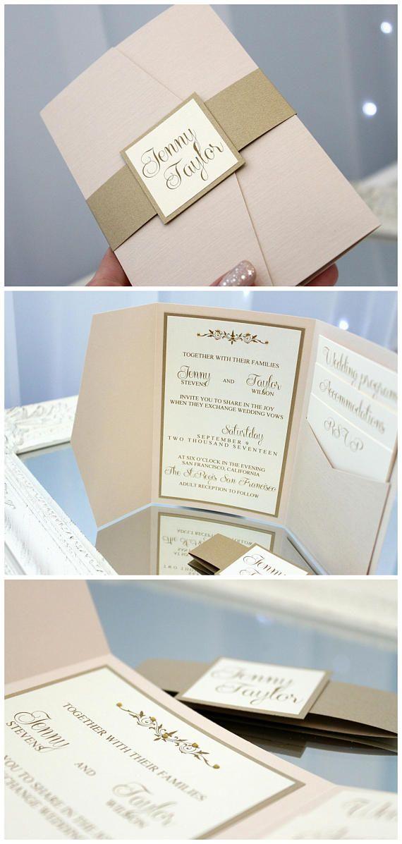 gold wedding invitations gold invitations handmade wedding