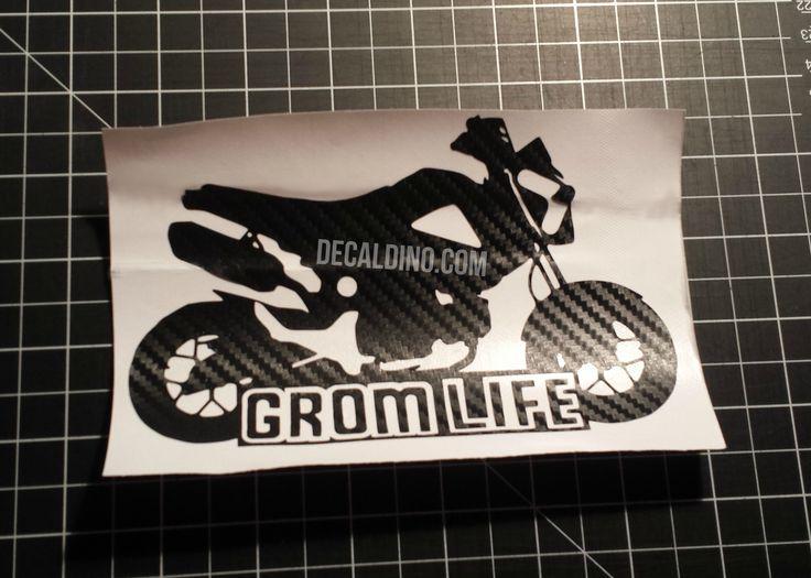"Carbon Fiber ""Grom Life"" Decal Sticker - honda accessories"
