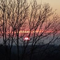 coucher de soleil sur l'Aveyron