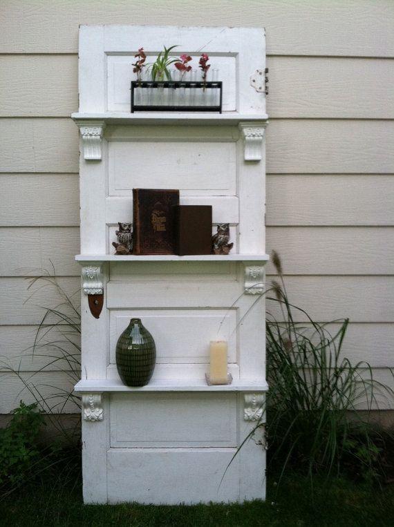 Door with shelves