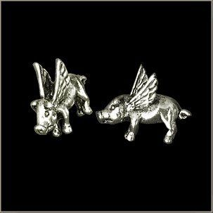 Small Flying Pig Pin by All American Gremlin Bells. $4.00. Small Detailed Flying Pig Pin - Cutest little hog you've ever seen!