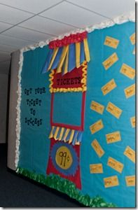 Get your ticket to learning success (maybe working hard or learning is the ticket to success) bulletin board