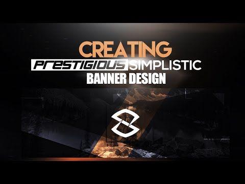Photoshop Tutorial: Creating Prestigious Simplistic Banner Design - YouTube
