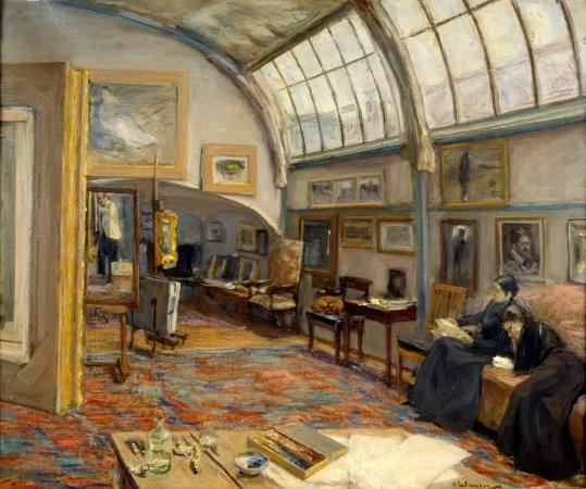 Max Liebermann, Atelier des Malers am Brandenburgertor in Berlin, 1902