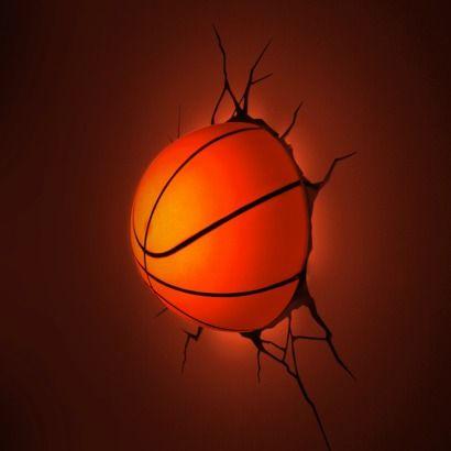 3D Wall Art - 3D Basketball Light