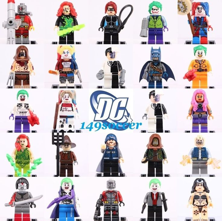 24pcs SET Deadshot Joker harley quinn suicide squad Custom Lego MiniFigure