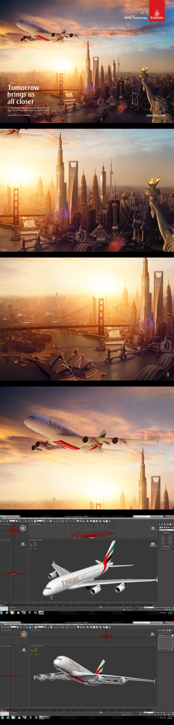 Fly Emirates | Hello Tomorrow by Edvin Puzinkevich, via Behance