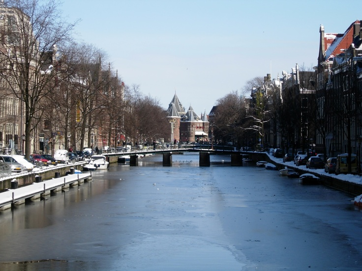 Winter in Amsterdam, Netherlands, March 2005