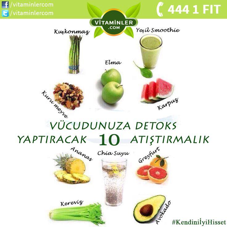 Vücudunuza detoks yaptırabilen 10 atıştırmalığı öğrenmek ister misiniz ? Kendini İyi Hisset www.vitaminler.com