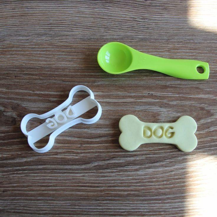 Dog Bone DOG Cookie Cutter Puppy Pup Pet Treat Pupcake topper cake #CookieCuttersFactory