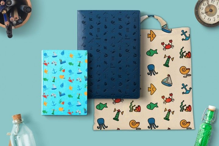 Sea Icons and Patterns Set By Barsrsind Shop