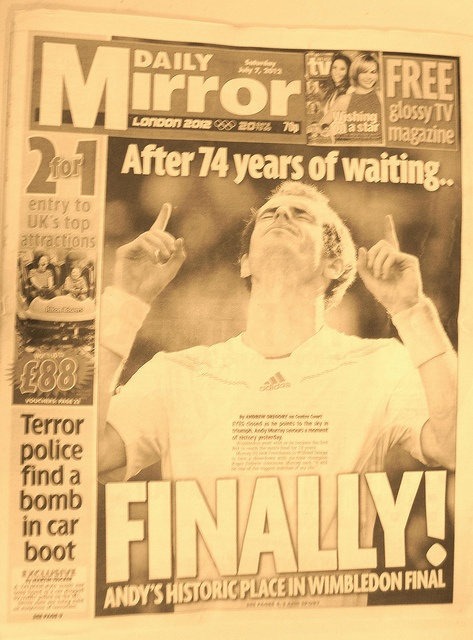 Andy Murray  FINALLY!