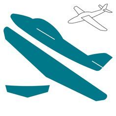 Cardboard Airplane Template | Click on image to zoom                                                                                                                                                                                 More