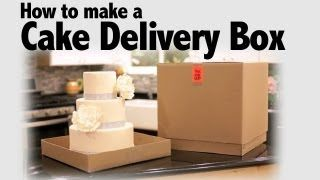 How to Make a Cake Delivery Box | Cake Business Tips, via YouTube.