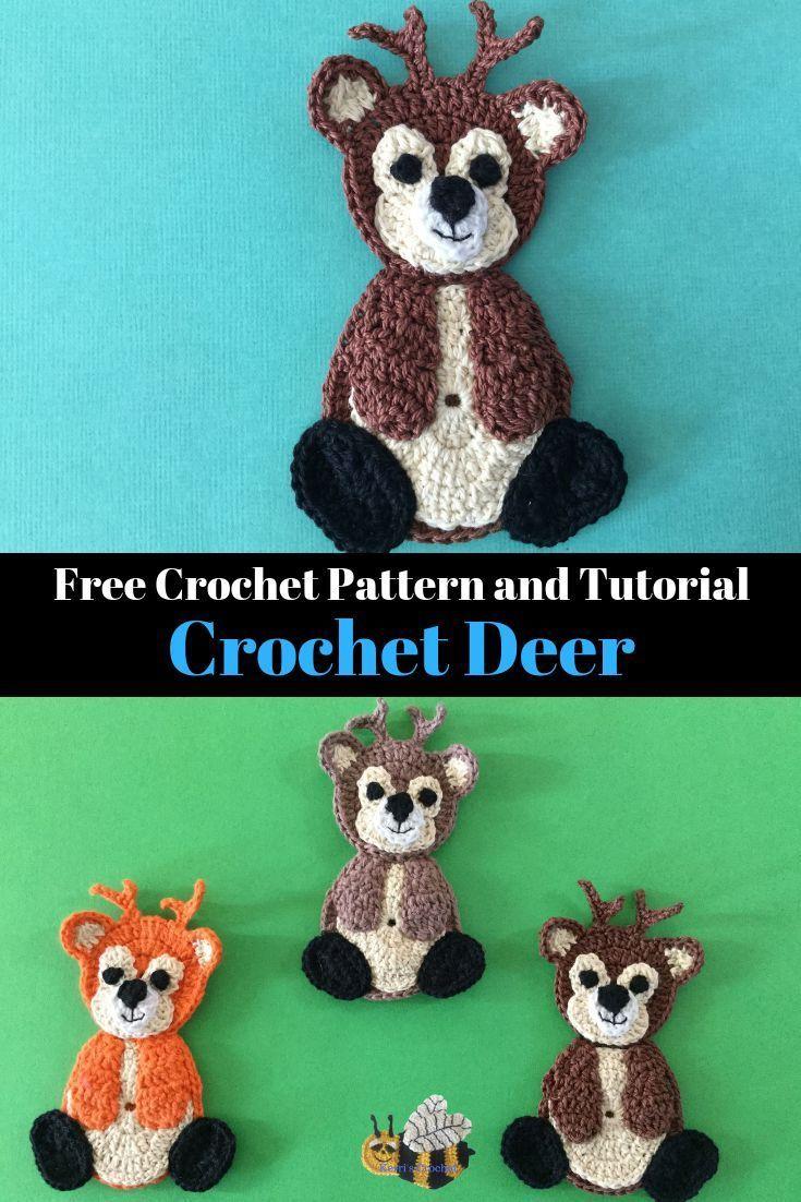 Crochet Deer Pattern Handmade Pinterest Crochet Crochet