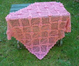 Rose Trellis Baby Blanket – PB-104 – A crochet pattern from Nancy Brown-Designer. This lovely baby blanket is crocheted in join-as-you-crochet squares that start in the center with a wonderful little flower and finished with a shell and picot edging. So beautiful it is sure to become a family heirloom. This pattern PDF can be purchased at my Ravelry Pattern Store for $3.99, just click on the photo.