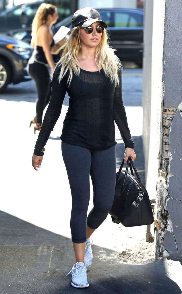 Ashley Tisdale from The Big Picture: Today's Hot Pics  Gym gal! The former High School Musical actress looks ready for a workout in Los Angeles.