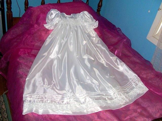 smocked silk gown by cutiepye australia 0427820744