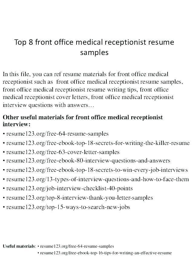 Resume Examples Veterinary Receptionist Resume Templates Resume Examples Veterinary Receptionist Medical Receptionist