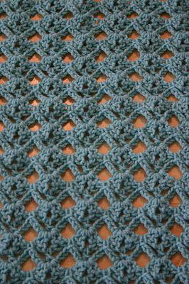 Diamond stitch pattern, crochet.