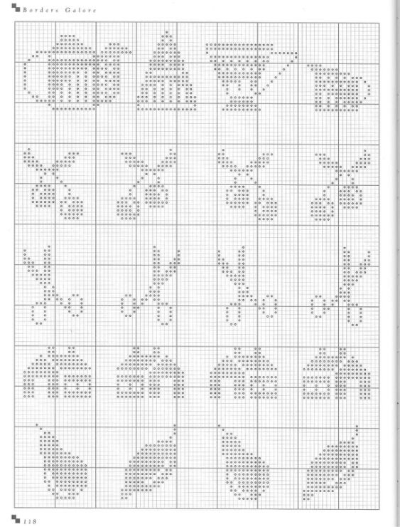 Gallery.ru / Фото #99 - Cross Stitch Silhouettes - Orlanda, mini sampler motifs, log cabins, scissors