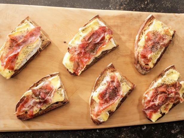 Camembert & Prosciutto Tartines Recipe from Food Network By Ina Garten, Barefoot Contessa