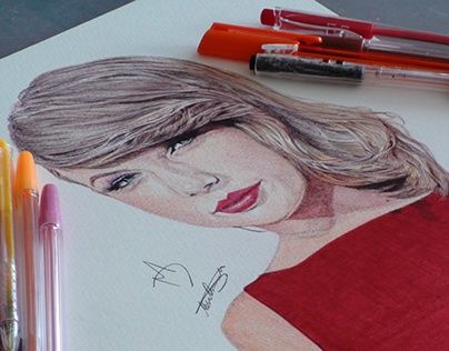 "Check out new work on my @Behance portfolio: ""Taylor Swift Pen Drawing"" http://on.be.net/1Odcaxj"