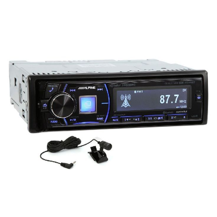 The 7 Best Car Stereo Systems: Best for HD Radio Signals: Alpine Single-Din Bluetooth Car Stereo