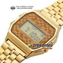 A159WGEA-9ADF Relógio Casio Digital Série Retrô Vintage Dourado