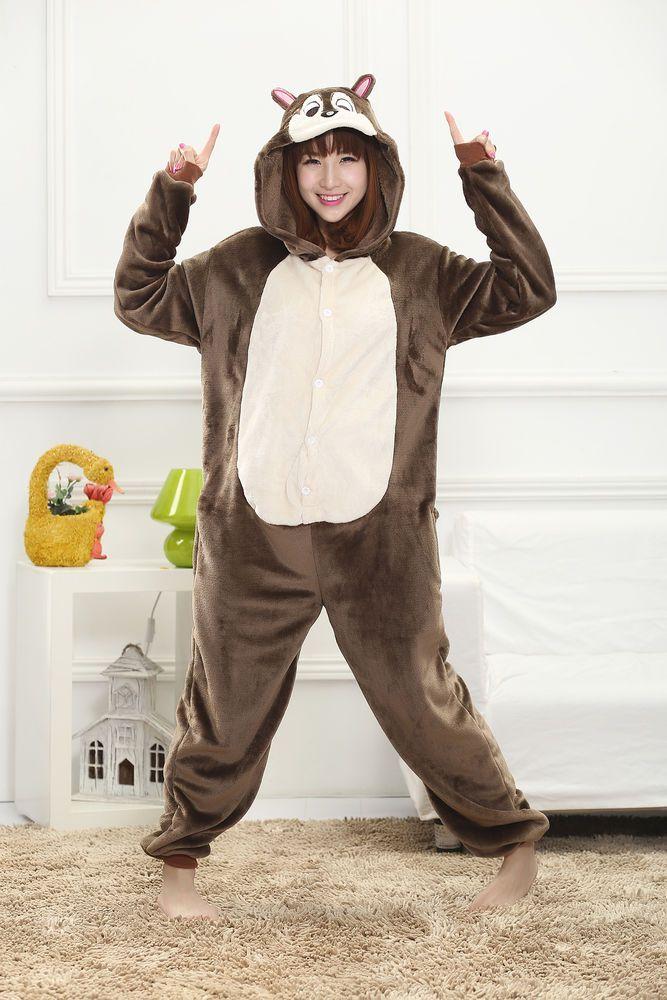 Adult Jumpsuit Cartoon Fasching Kostum Pyjamas Sleepsuit Damen