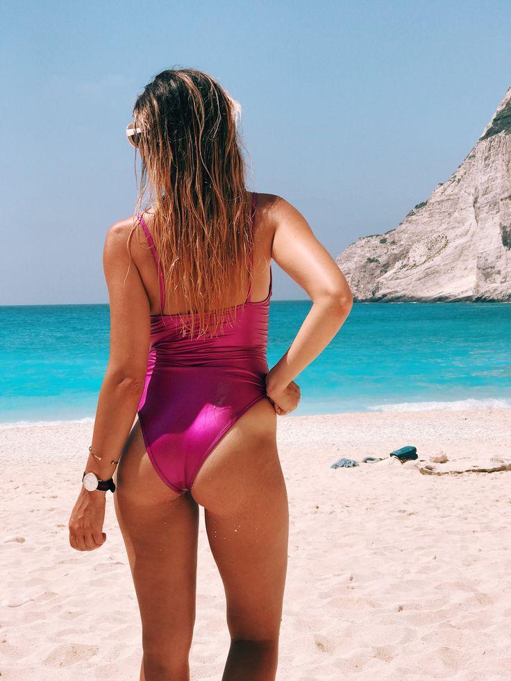 Metallic swimwear at Navagio beach #zante #travel summer destination Greece
