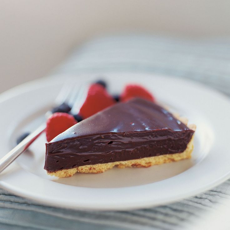 No-bake chocolate tart recipe - Our fabulously easy tart recipe looks rich and indulgent but is actually very low in fat, so you can afford to treat yourself