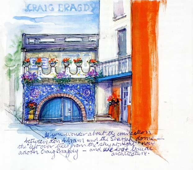 Craig Bragdy, Lon Abram – Jean's home and studio. Illustration taken from Jean's book – Earth, Fire and Water.