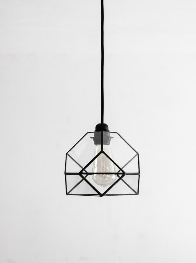 Pendant Lighting – Little Crystal Geometric Glass Chandelier – a unique product by SimonMag on DaWanda