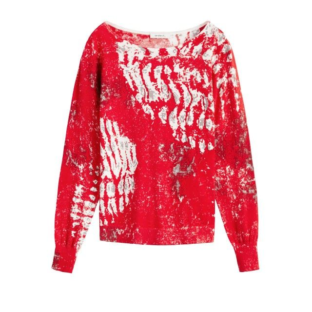 Sandwich Clothing Asbstract Printed Jumper Red