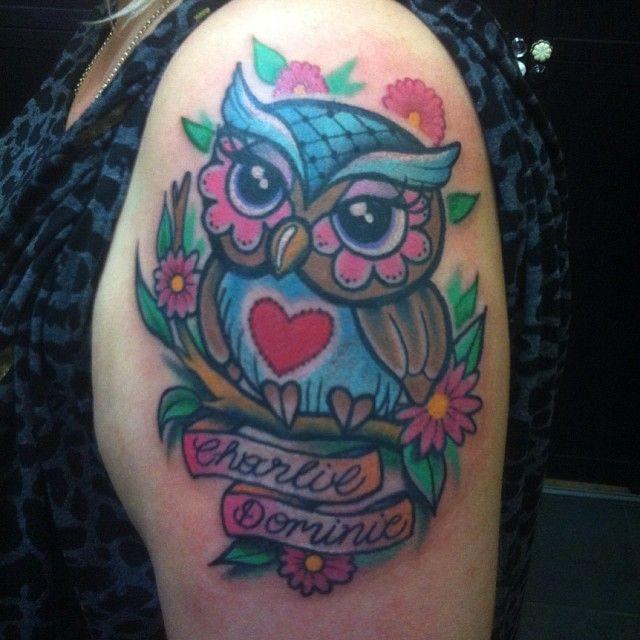 Cute Owl Tattoo Cute Girly Owl Tattoos Adorable Owl On The Arm Tattoos Pinterest Tattoo