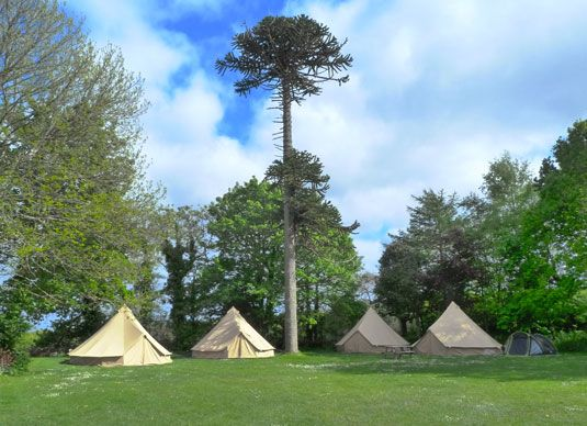 New Premium Bell Tents, Tipis and Camping Pods