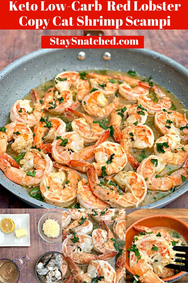 Easy Keto Low-Carb Red Lobster Copycat Garlic Shrimp Scampi is a quick and easy …